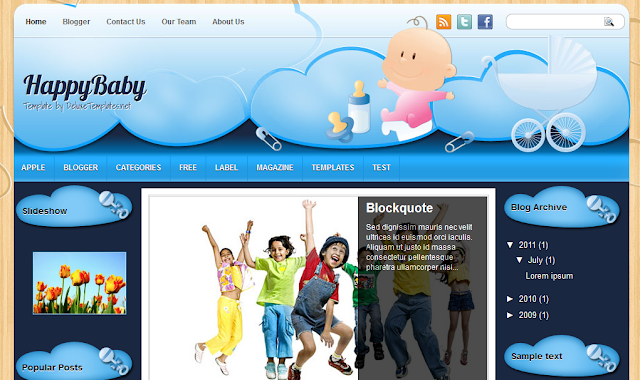 Happy Baby Blogger Template