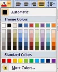 jenis font color