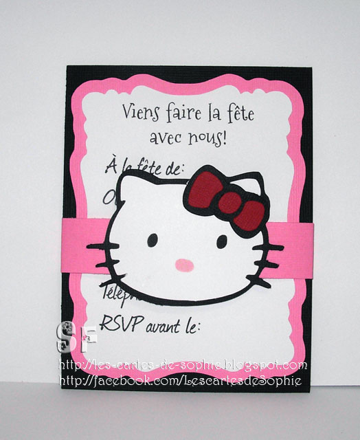 les cartes de sophie f te hello kitty. Black Bedroom Furniture Sets. Home Design Ideas