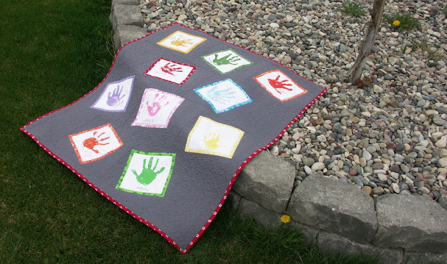 Hand print quilt