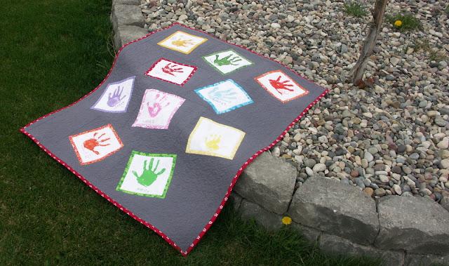 Hand print quilt