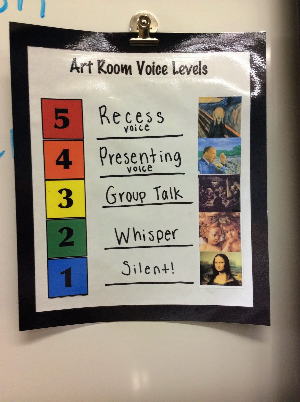 ... Which I Use For Different Noise Levels I Want In My Classroom Depending  On Which Project We Are Working On. Recess Voice In The Art Room Is Never  Okay!