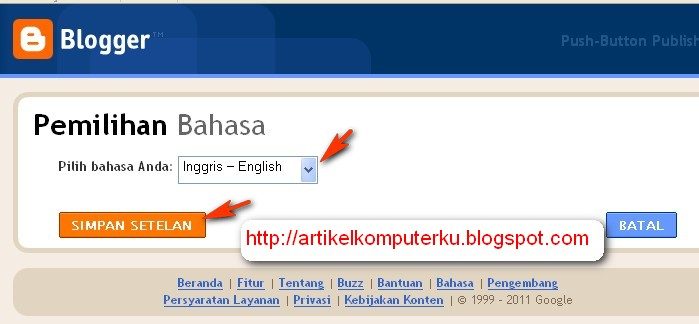 error login blogspot