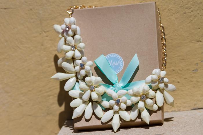 Nuevas compras collar de flores tendencia accesorios de la blogger de moda valenciana withorwithoutshoes
