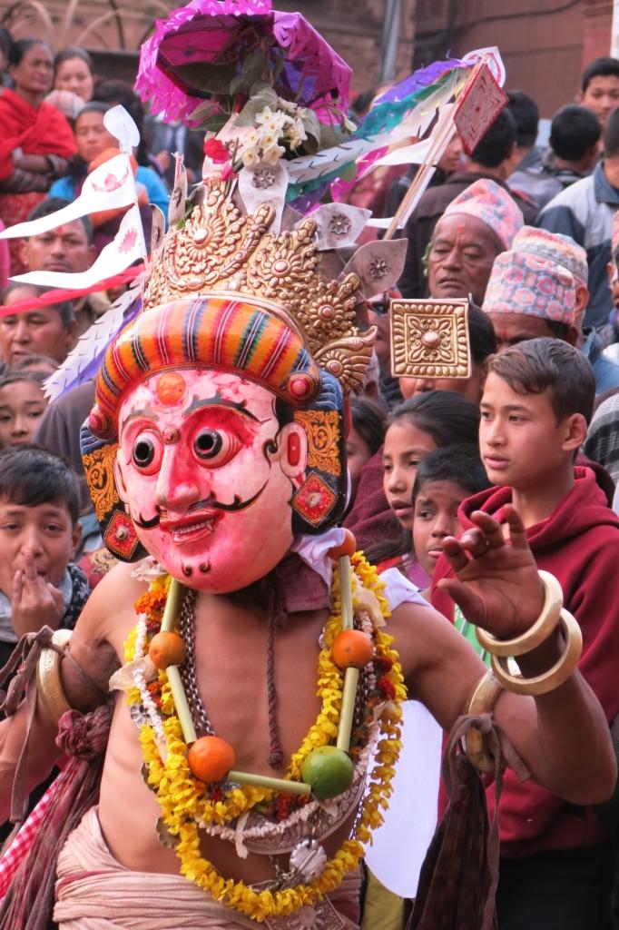 Masked dancer in Bhaktapur, Nepal