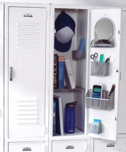 Locker organizing tips how to organize your locker - Simple ways of keeping your home organized using magnetic picture frames ...