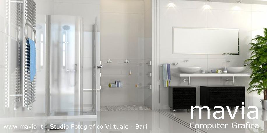 Arredamento di interni arredo bagni in muratura moderni i modellazione 3d e rendering 3d bagno - Bagno in muratura moderno ...