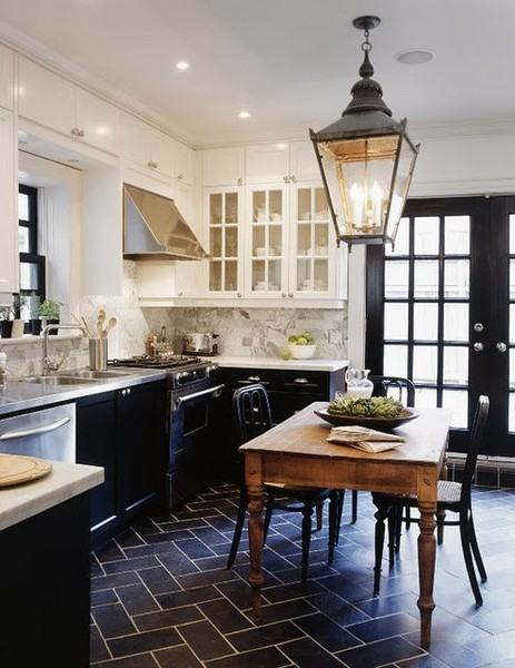 home decor idea: for the home: black kitchens
