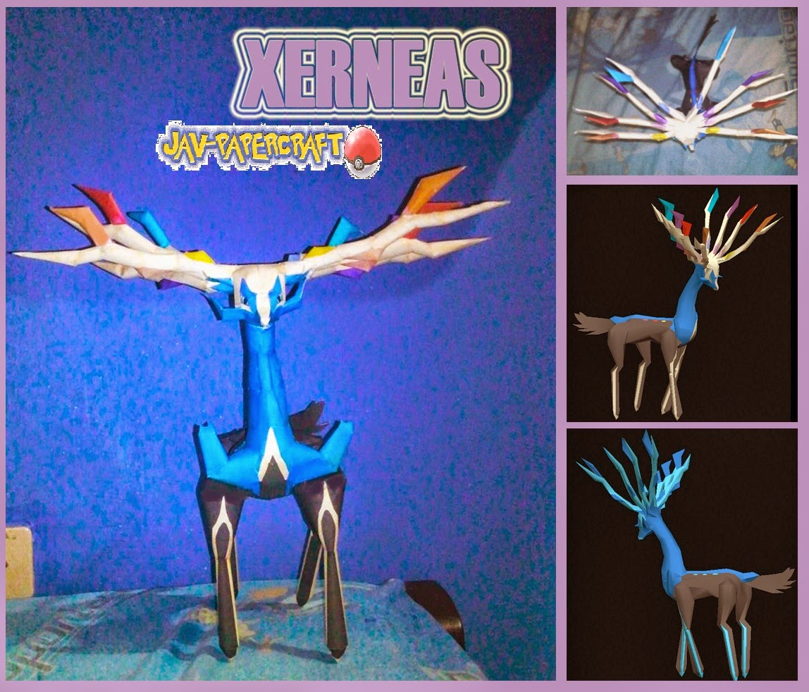 Pokemon Xerneas Papercraft