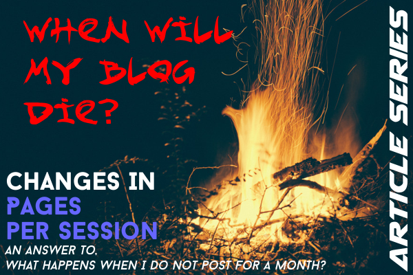 How will my blog die? (Pages per Sessions)