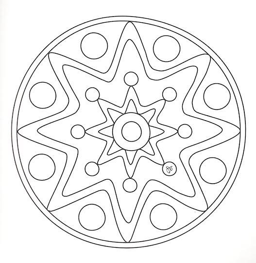 Mandalas grandes para niños para imprimir - Imagui