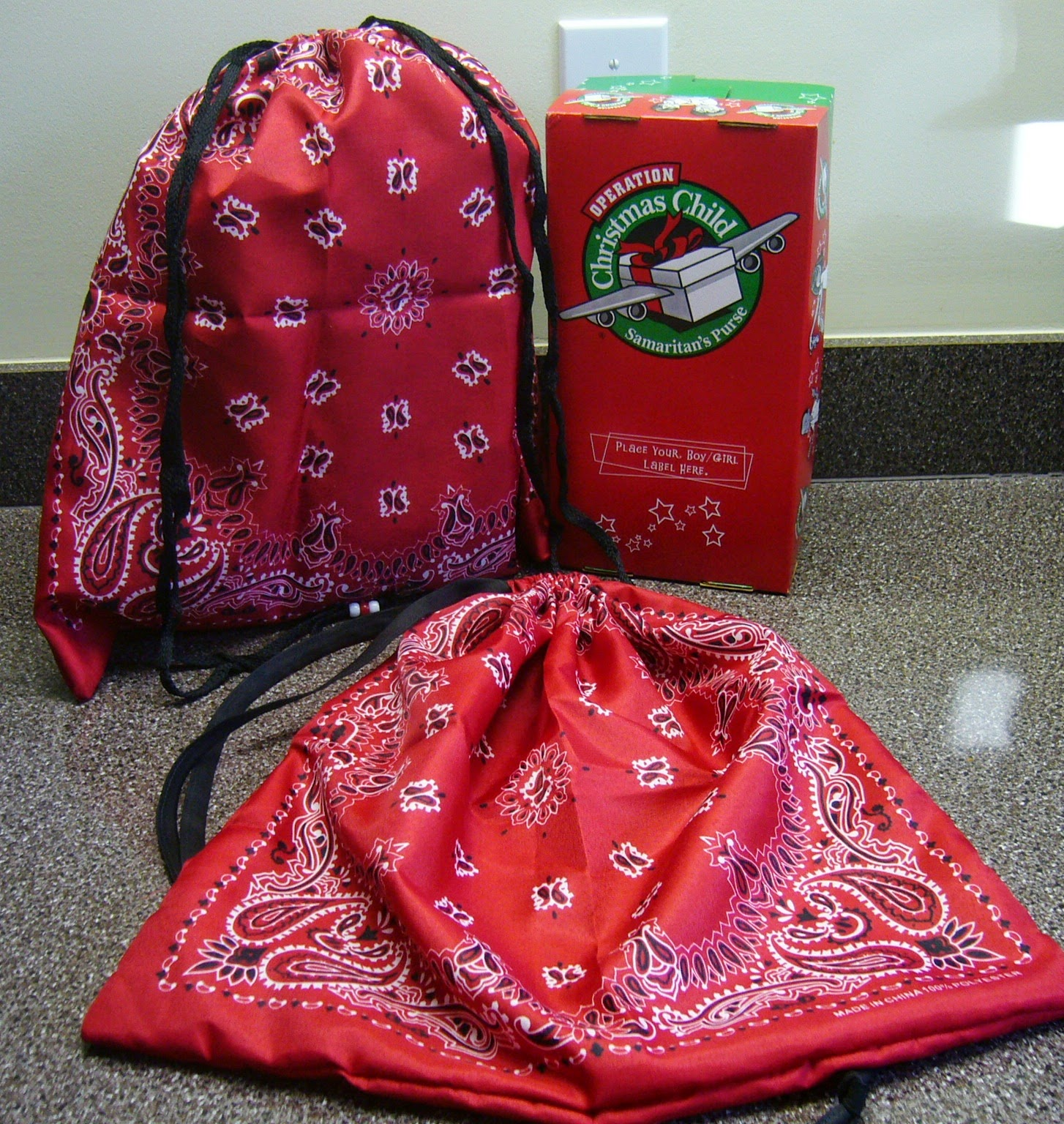 Simply shoeboxes step five minute drawstring tote bag