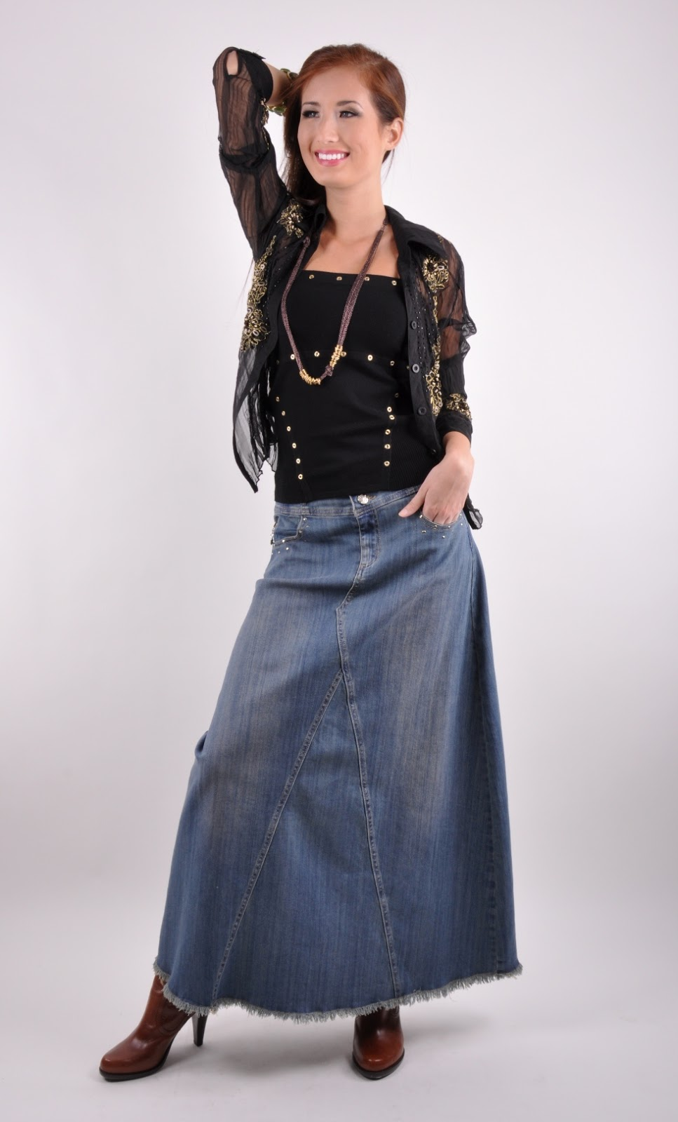 Long Skirts U0026 Dresses Long Jean Skirts