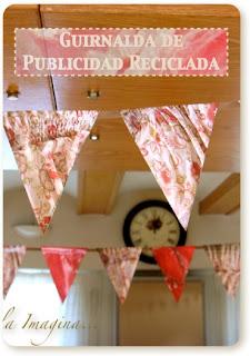 Guirnalda Publicidad Reciclada