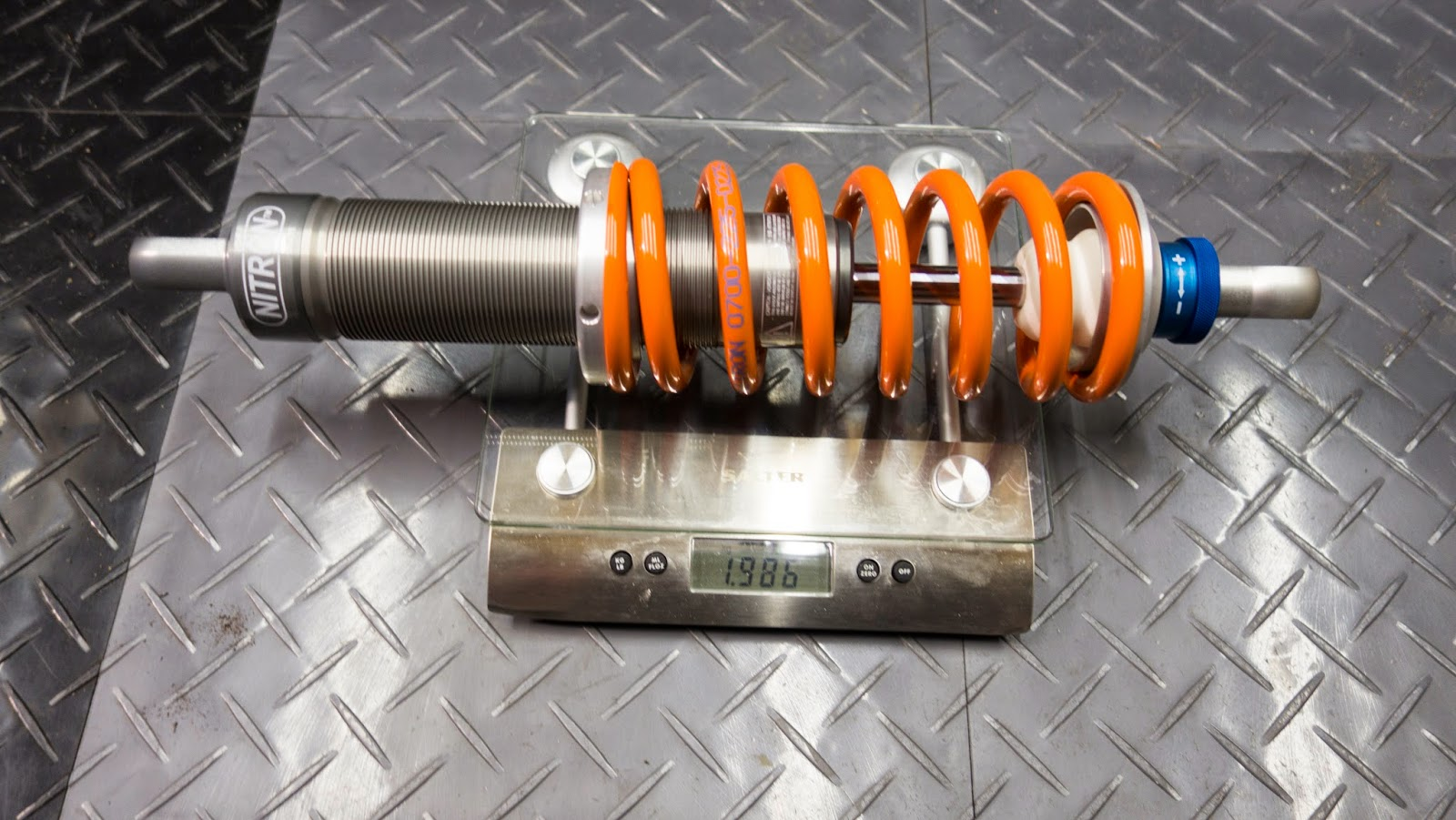 Caterham front Nitron Race R1 shock weighed in at 1.986kg