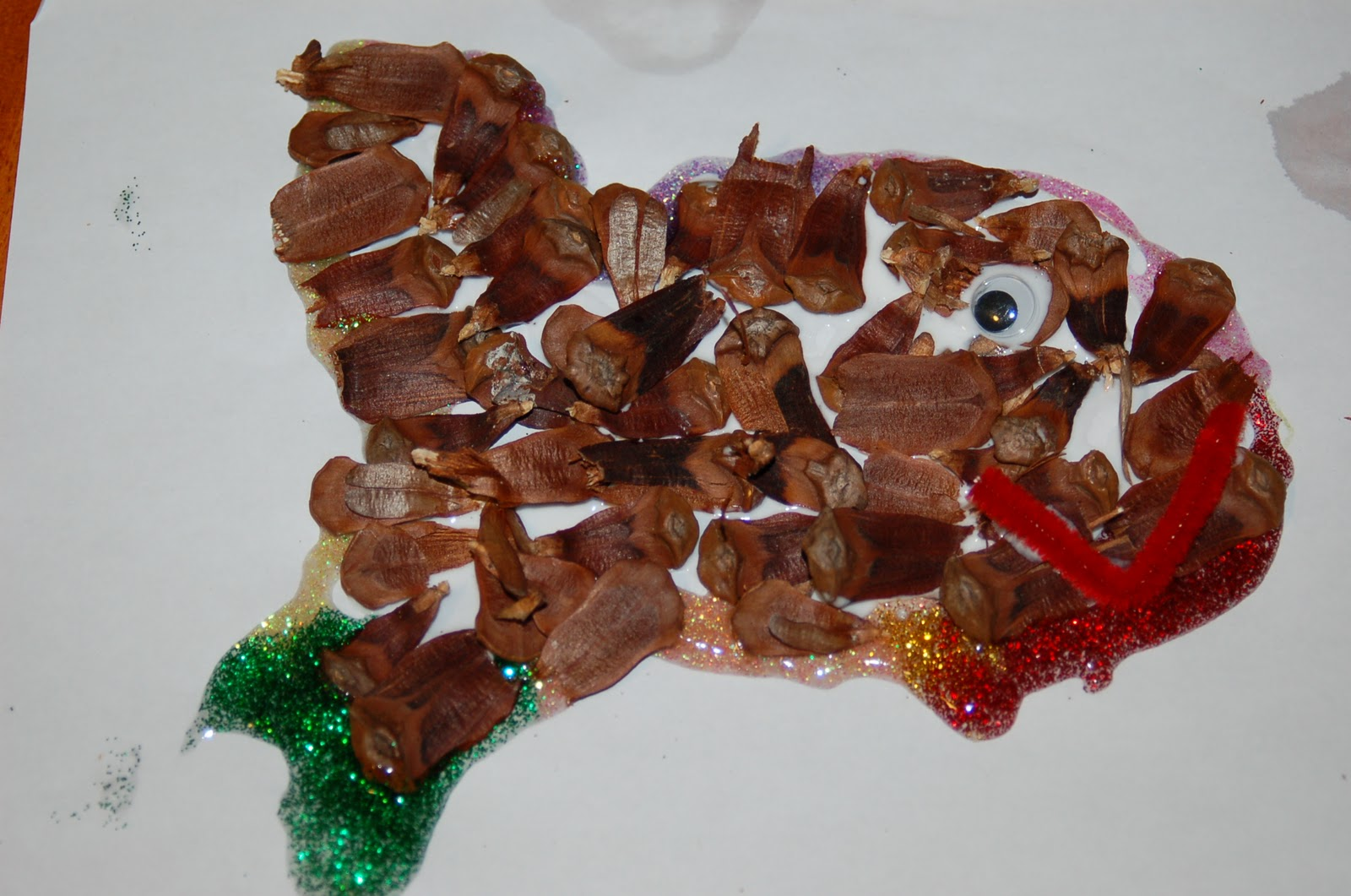 Pine cone fish craft for kids great to go with the for Pine cone crafts for children