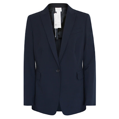 akris punto navy blue blazer jacket