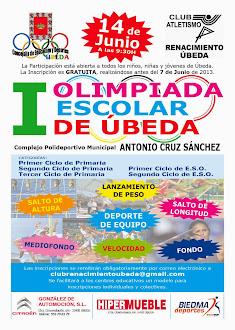 Cartel de la I Olimpiada escolar de Úbeda