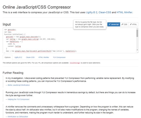 Online JavaScript/CSS Compressor