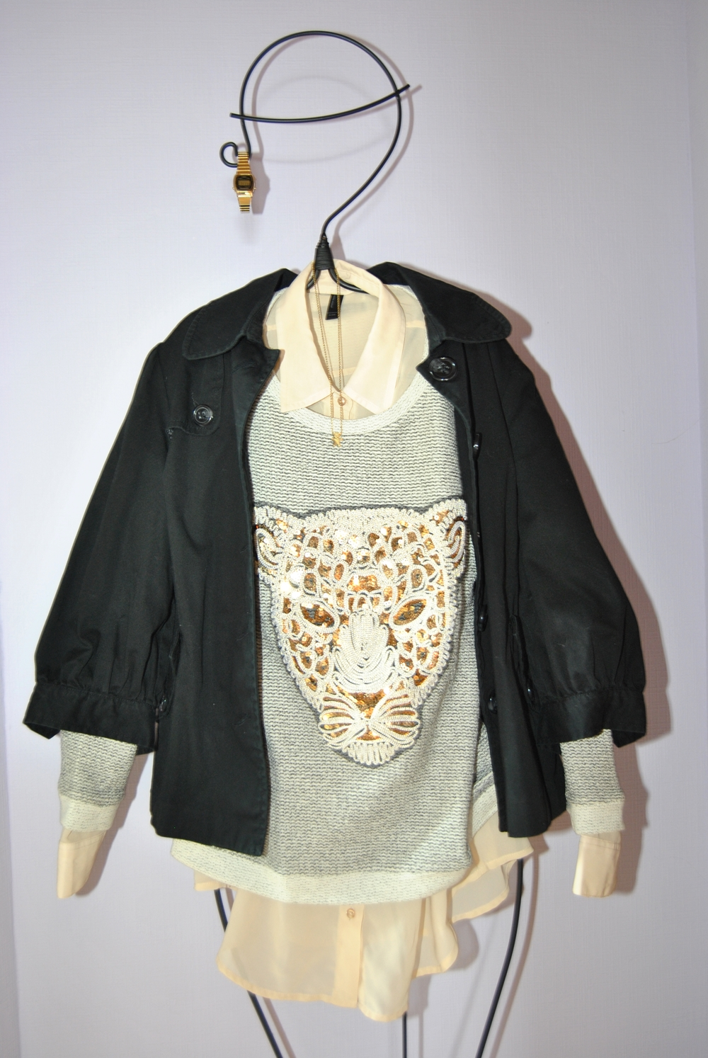 outfit layering look blouse