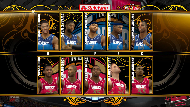 NBA 2K13 Unlock All-Star Teams & Hidden Courts