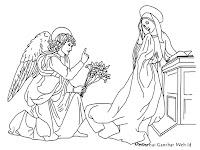 Mewarnai Gambar Bunda Maria