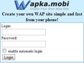 Wapka mobi xhtml code
