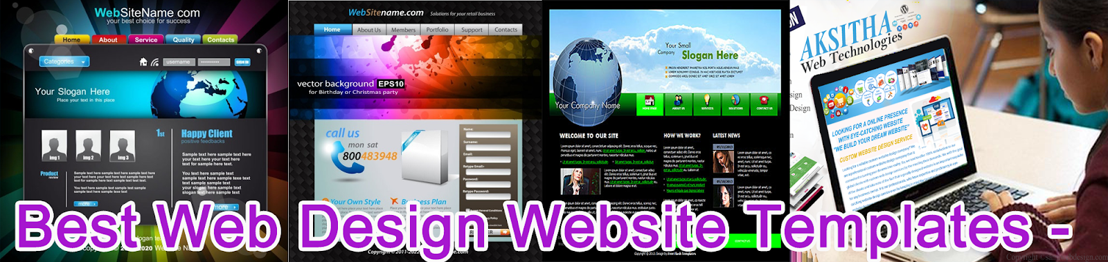 click and View Website Template Full size Template