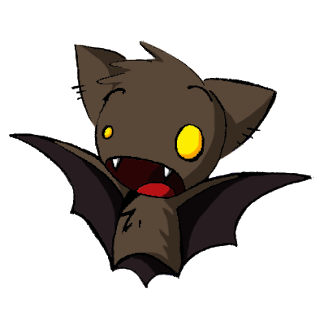 cute brown anime bat