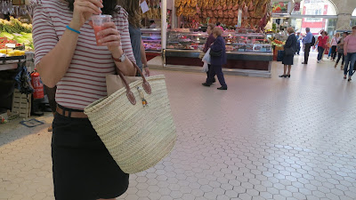 photo french basket in the valencian market