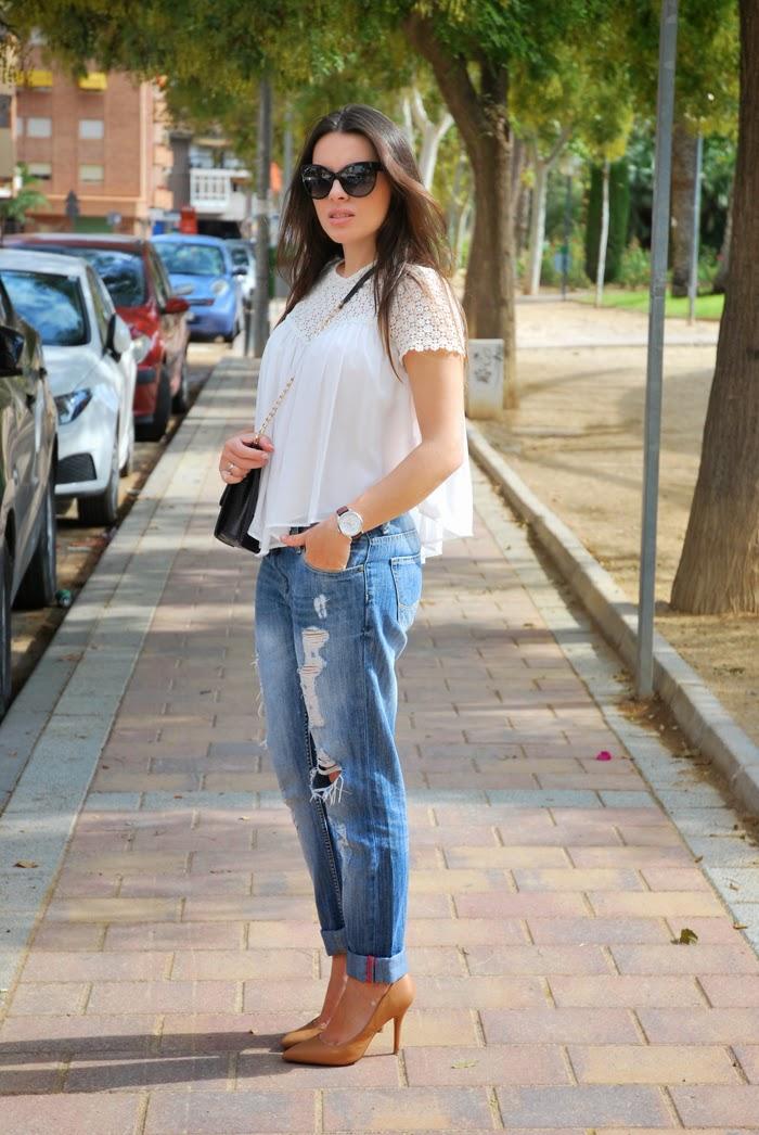 Boyfriend Jeans + Stilettos