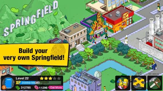 تحميل لعبة عائلة سمبسون لهواتف وأنظمة أى او إس مجاناً The Simpsons™: Tapped Out-IPA-iOS-4-5-0