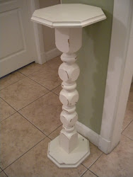solid wood creamy white pedestal...SOLD