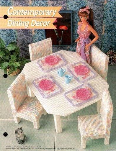 Mesa y sillas para barbie labores de esther todo para for La casa de mi gitana muebles