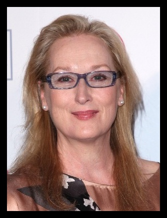 Meryl Streep long oval face perfect glasses