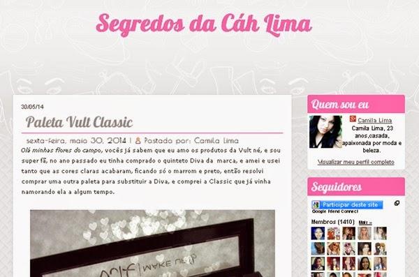 blog, Segredos de Cáh Lima, divulgar blog