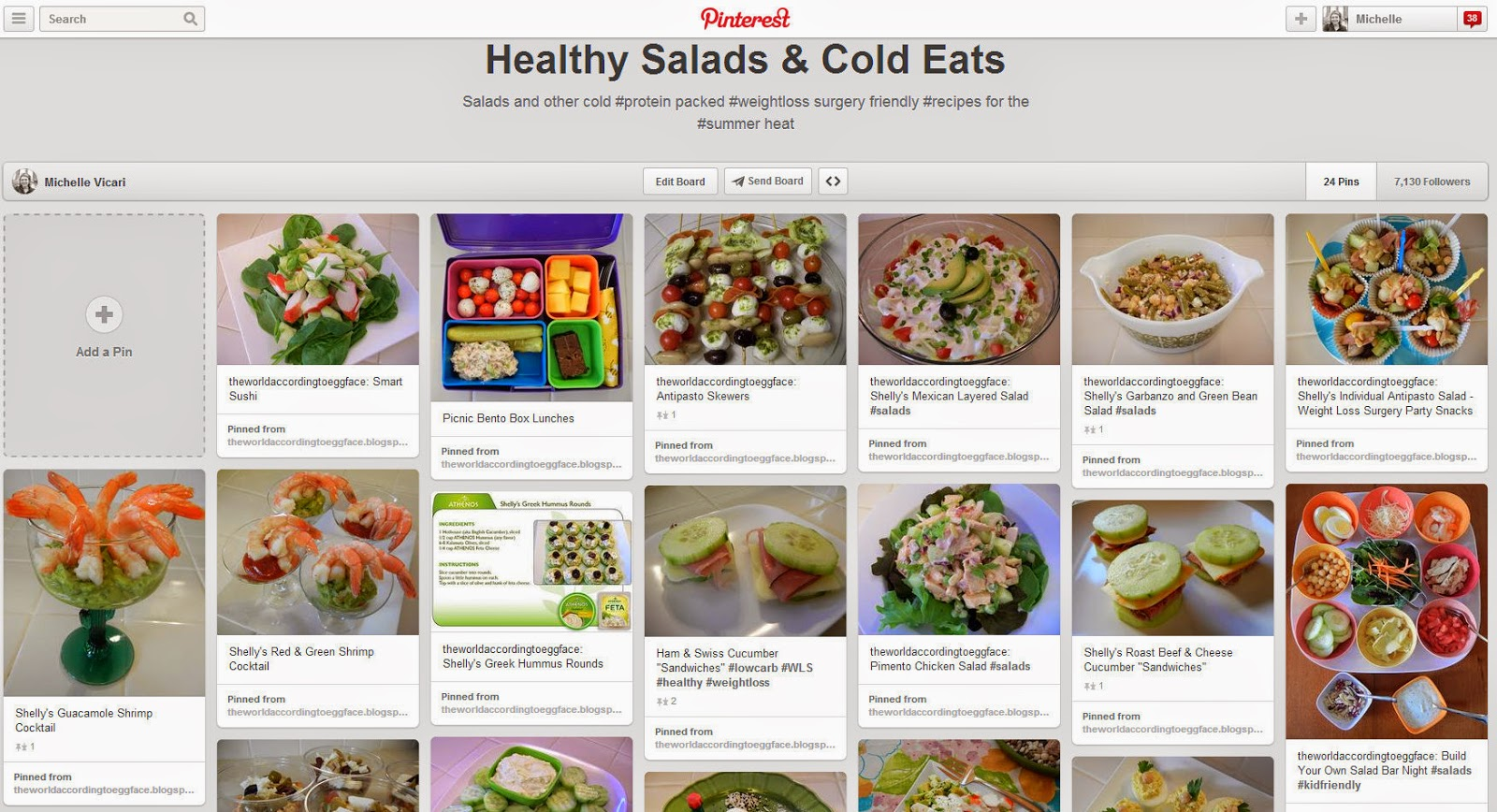 Healthy+Salads+and+Cold+Eats+Pinterest+Page Weight Loss Recipes Eggface Healthy Salads and Cold Eats Pinterest Page