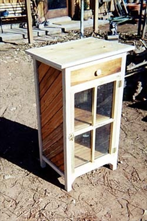 multi pallet nightstand purpose used wood pallet furniture ideas