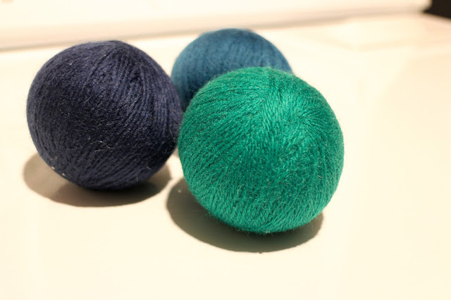 The Impatient Gardner -- felted wool dryer balls