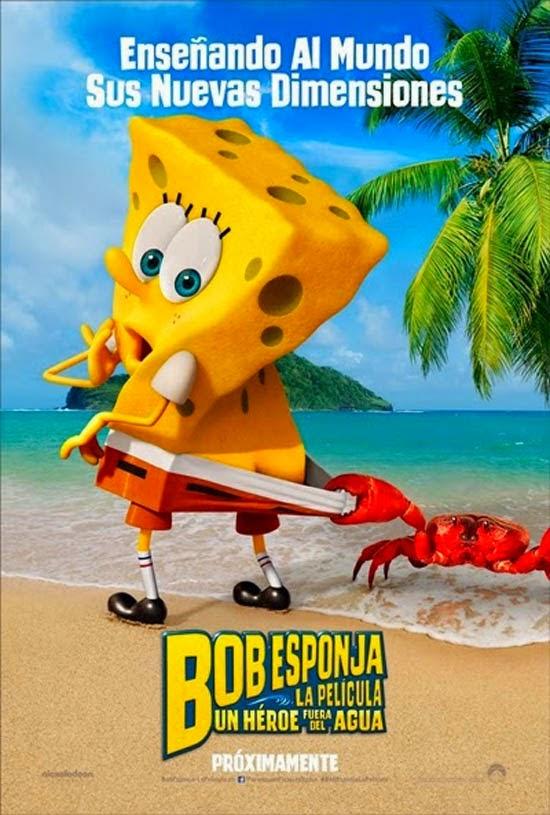 Poster 'Bob Esponja: Un heroe fuera del Agua'