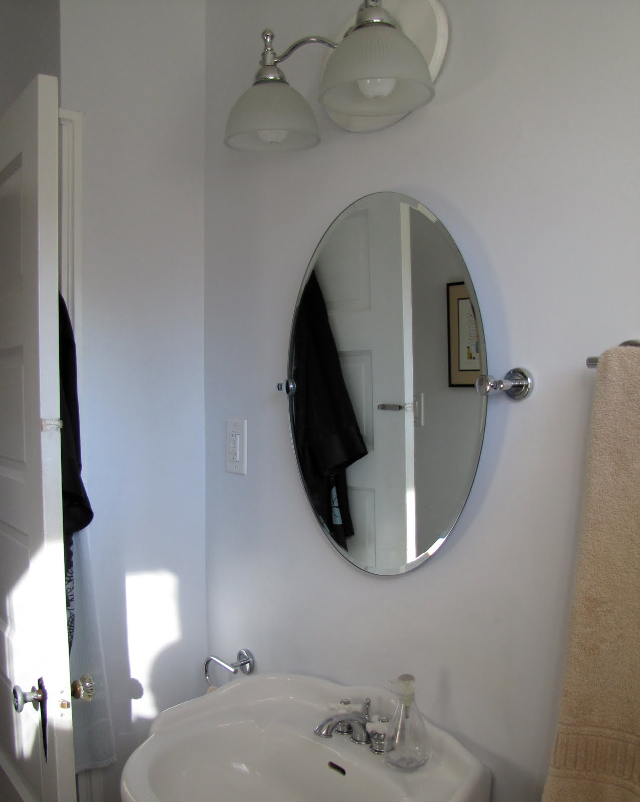 Modern bathroom mirrors - Our Mid Century Modern Bathroom Mirror