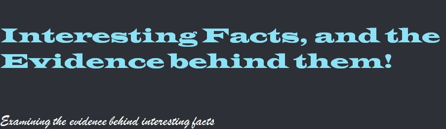 Interesting Facts, and the Evidence behind them!