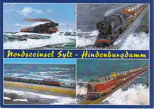 Discover the world on trains locomotives on the hindenburgdamm causeway germany - Sylt mobel niebull ...