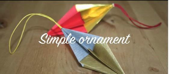 Tutorial ornament de Craciun din modele origami
