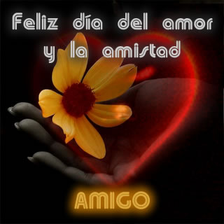 Para el amigo feliz día del amor y la amistad