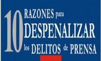ANP Intensifica campaña por despenalización de delitos de prensa