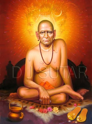 Shree Swami Samarth oil painting