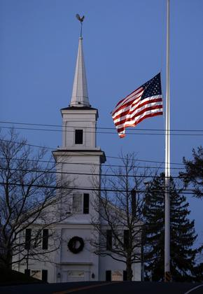 Newtown Flagpole Half Mast