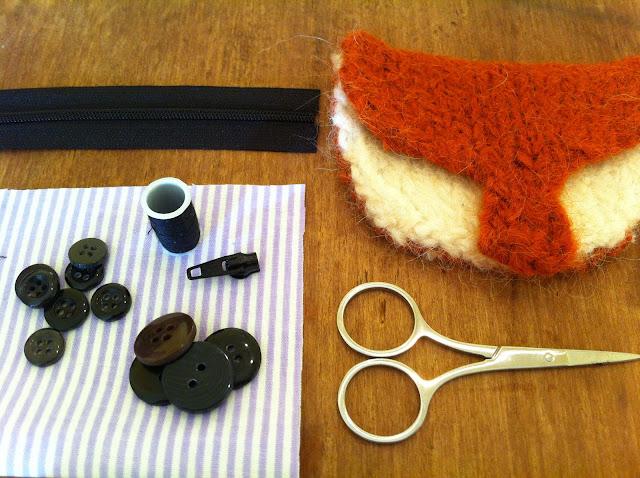 DIY Felted Fox Purse @owlrpintpanda.blogspot.co.uk