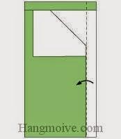 Bước 5: Gấp cạnh giấy sang trái.